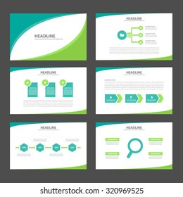 Two tone Green Multipurpose Infographic elements and icon presentation template flat design set for advertising marketing brochure flyer leaflet