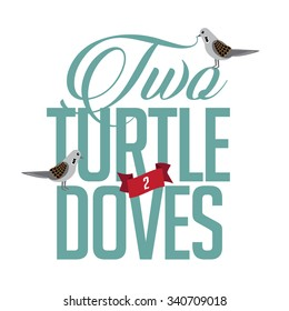 Two turtle doves EPS 10 vector illustration