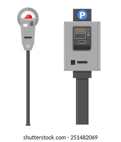 Two types of parking meters.