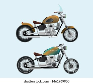 Two variants of the classic design of the motorcycle