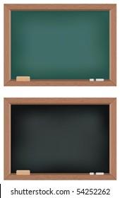 Two vector illustrations of blackboards
