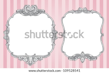 Two Vector Ornate Vintage Frames On Stock Vector (Royalty Free ...
