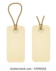 two vector paper price tags