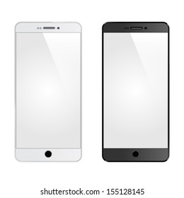 Two vector smart phones isolated.
