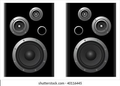 two vektor speaker systems on white background