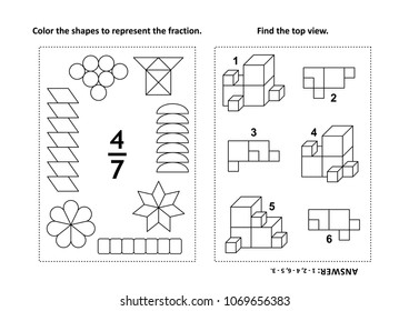 math fractions stock vectors images vector art shutterstock. Black Bedroom Furniture Sets. Home Design Ideas