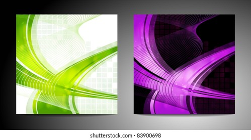 Similar images stock photos vectors of abstract bunting design two wavy backgrounds maxwellsz