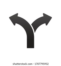 Two way direction arrows vector illustration.