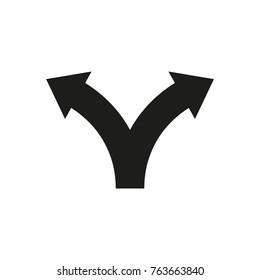 Two way direction arrows. Vector icon