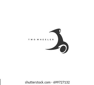 Two wheeler icon, transportation, loan, fast delivery, buy, rent and sell, spare and service, motor parts, white background, vector illustration