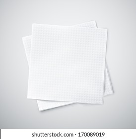 Two white napkins, eps 10