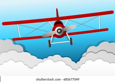 Two wing plane graphic vector
