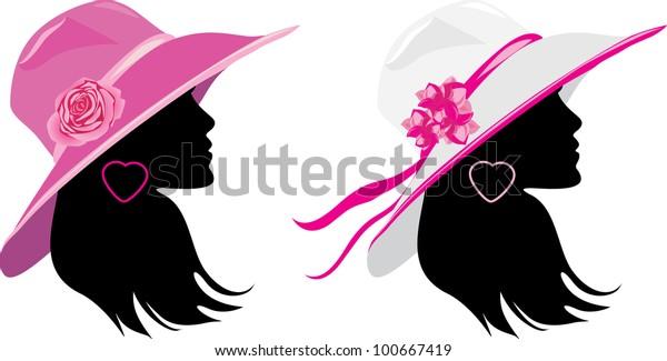 two-women-elegant-hats-vector-600w-10066