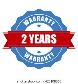 Two years warranty seal - round stamp