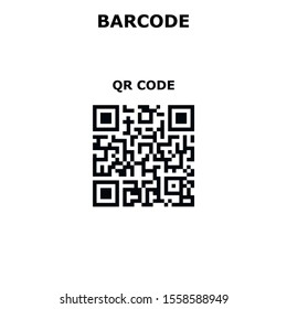 Two-Dimensional Barcode Types. Set, collection of barcodes isolated on white background.Marketing, the concept of the Internet. QR CODE