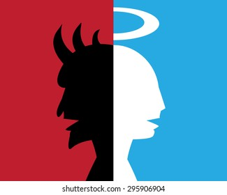 two-faced man,hypocrite, deceitful person, abstract background