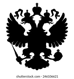 Two Headed Eagle Royal Symbol Vector Illustration