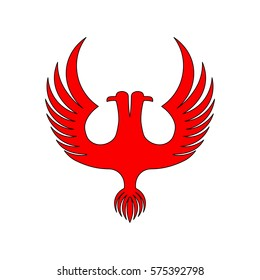 Two-headed red eagle