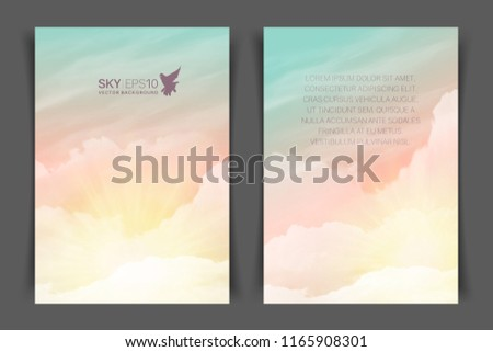 twosided vertical flyer a 4 format realistic stock vector royalty