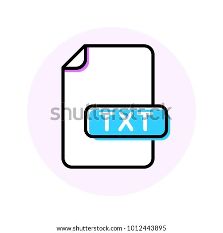 TXT file format extension