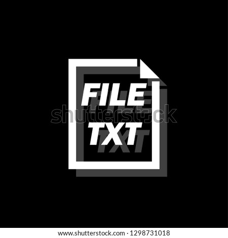 TXT File White flat