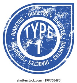 type 1 diabetes rubber stamp