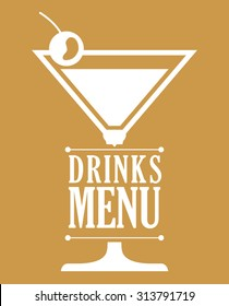 type of drink and his respective glass concept, vector illustration 10 eps graphic.
