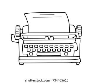 type writer doodle
