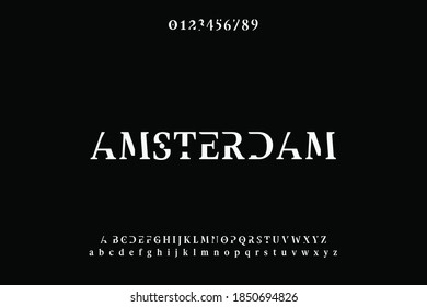typeface design, alphabet font, black  and white style - Shutterstock ID 1850694826