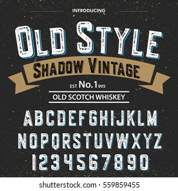 Typeface.Label. Old Style Wintage typeface, labels and different type designs
