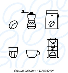 Types of coffee equipment icon set - Cold brew and barista set - 10