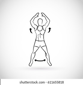 Types of exercises - illustration vector