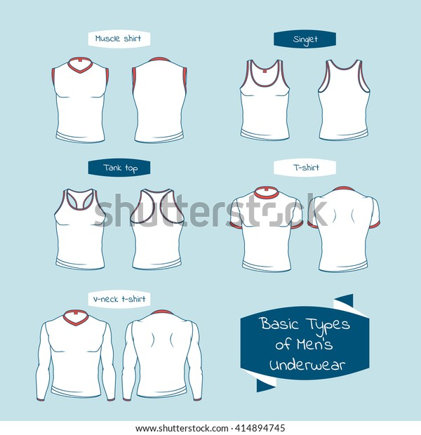 b298dcaf24 Types Mens Underwear Names On Ribbons Stock Vector (Royalty Free ...