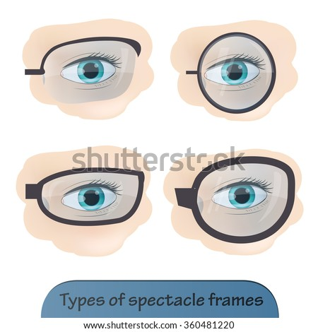 Types Spectacle Frames Vector Illustration Stock Vector Royalty