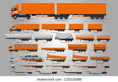 Types of trailers. Big Set of trailers. the largest set of trailers in the world.