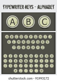 typewriter keys-alphabet