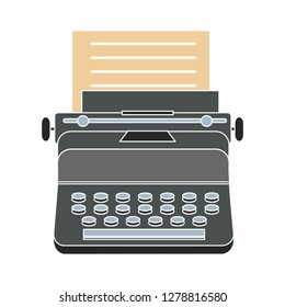 typewriter machine icon -vintage  icon illustration. typewriter sign symbol - journalist writing symbol- keyboard illustration - journalist equipment sign - antique equipment sign
