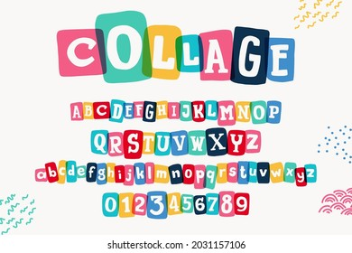 Typewriter-inspired alphabet with bold slab serif symbols in colorful frames. Hand-drawn style font for cool lettering with multiply effects, sale stickers, or blog headlines.