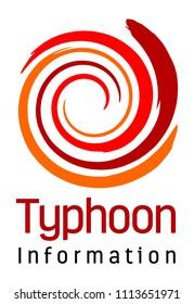 Typhoon or Hurricane Disaster Logo Design