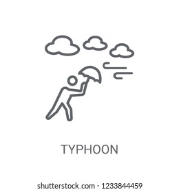 typhoon icon. Trendy typhoon logo concept on white background from Weather collection. Suitable for use on web apps, mobile apps and print media.