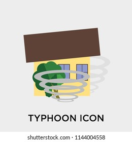 Typhoon icon vector isolated on white background for your web and mobile app design, Typhoon logo concept