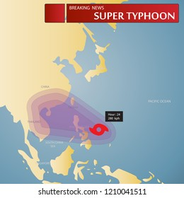 typhoon a mature tropical cyclone