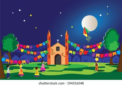 Typical festival in Brazil, June and July- Party