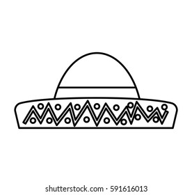 Typical latin american hat