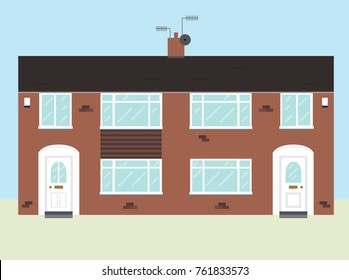 Typical UK 1960s Semi Detached House
