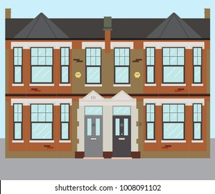 Typical UK Terraced London Victorian Houses