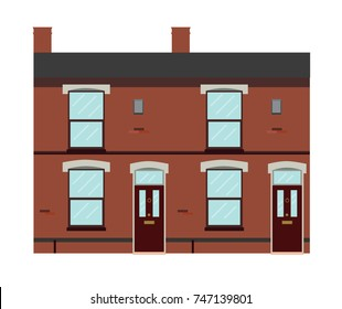 Typical UK Victorian Terraced Houses