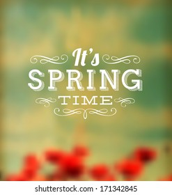 Typographic Design - It's Spring Time