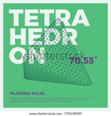 Typographic Poster Art Vector Threedimensional Shape Stock Vector ...