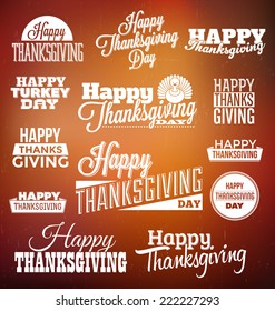 Typographic Thanksgiving Design Set